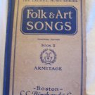 Folk & Art Songs. M. Teresa Armitage, author. Teacher's Edition, Book II. Good