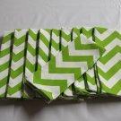 17 X 17 Chevron Lime Green Cloth Napkins set of 6