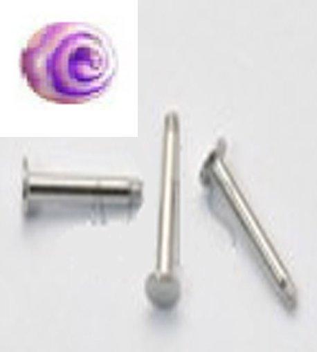 14g Purple Swirl /S.S. Steel Labret