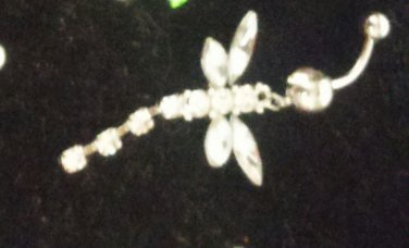 Dragonfly Belly Button Ring