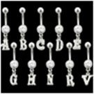 Letter H Belly Button Ring