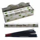 Stamford Hex Incense Sticks - Green Tea (6 Packs)