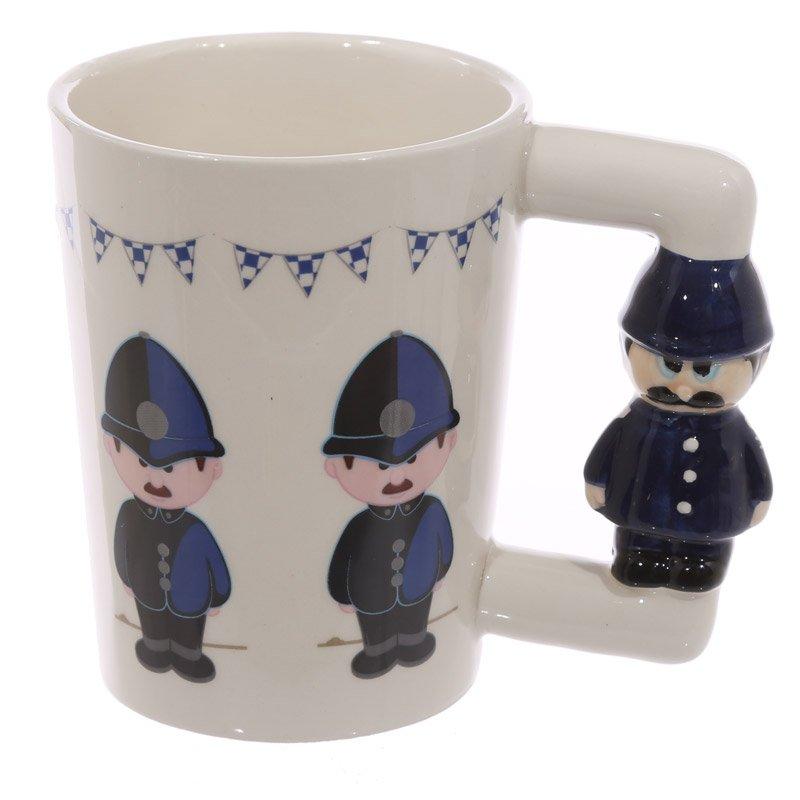 Ceramic Policeman Handle Mug