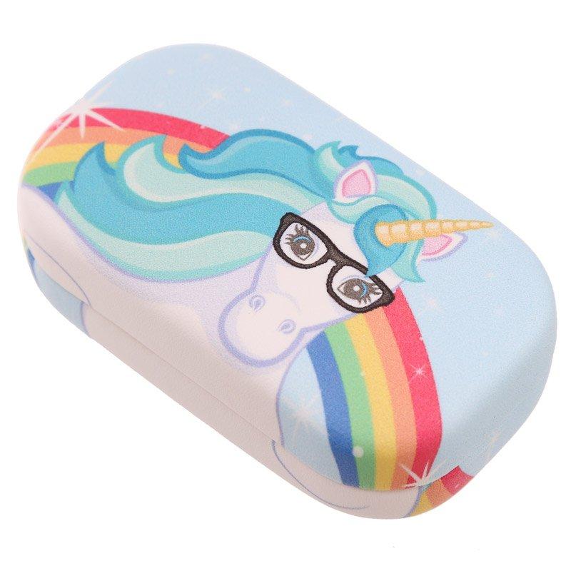 Contact Lenses Case - Unicorn Rainbow