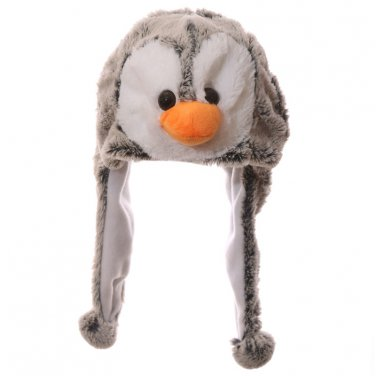 Funky Plush Fabric Penguin Hat