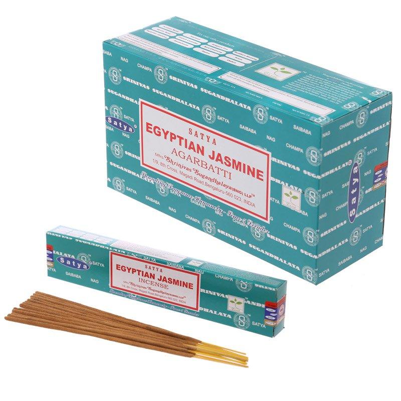 Satya Nag Champa Incense Sticks - Egyptian Jasmine (12 Packs)