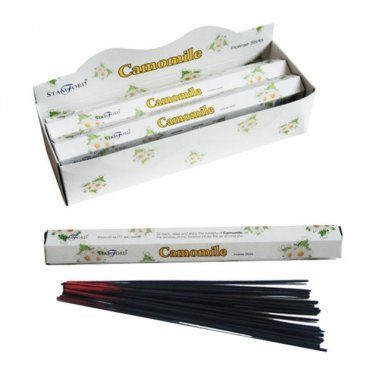 Camomile Stamford Hex Incense Sticks (6 Packs)