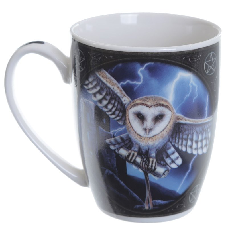 Bone China Mug - Owl and Lightning
