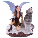 Mystic Realms Snow Fairy and Wolf