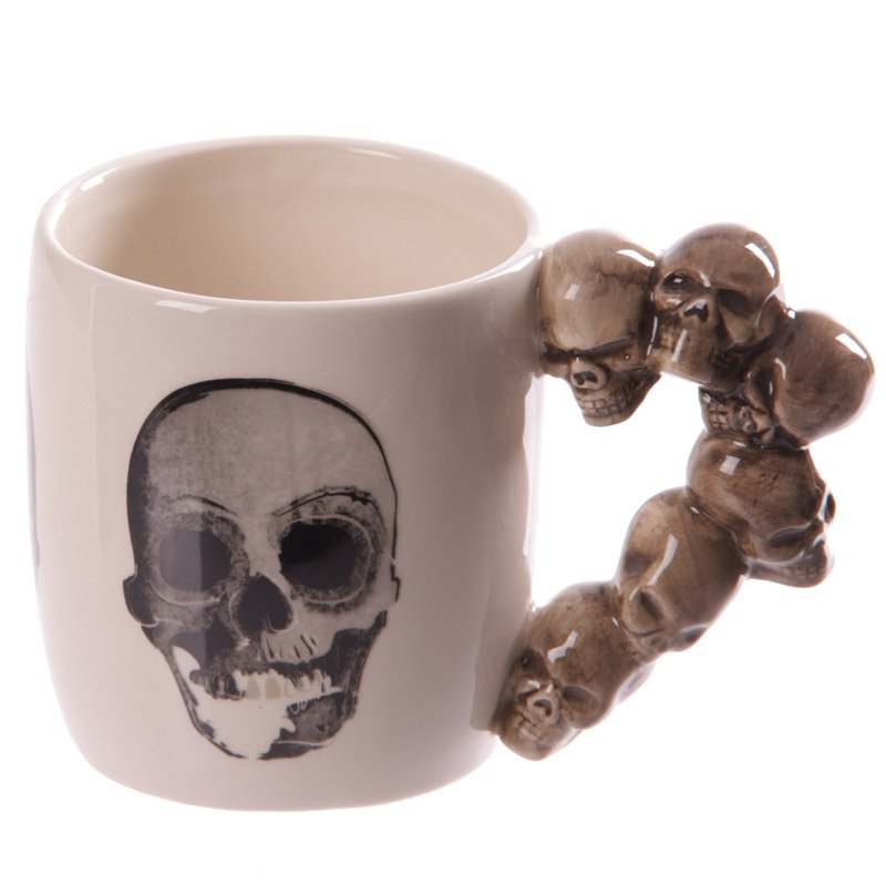 Skulls Stack Handle Ceramic Mug
