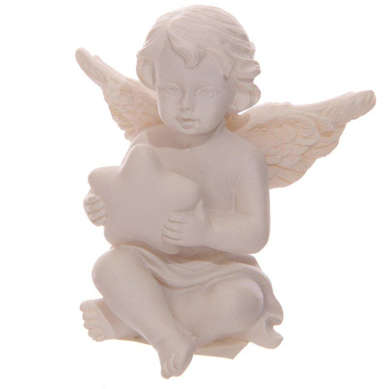 Cherub Figurine Holding Star