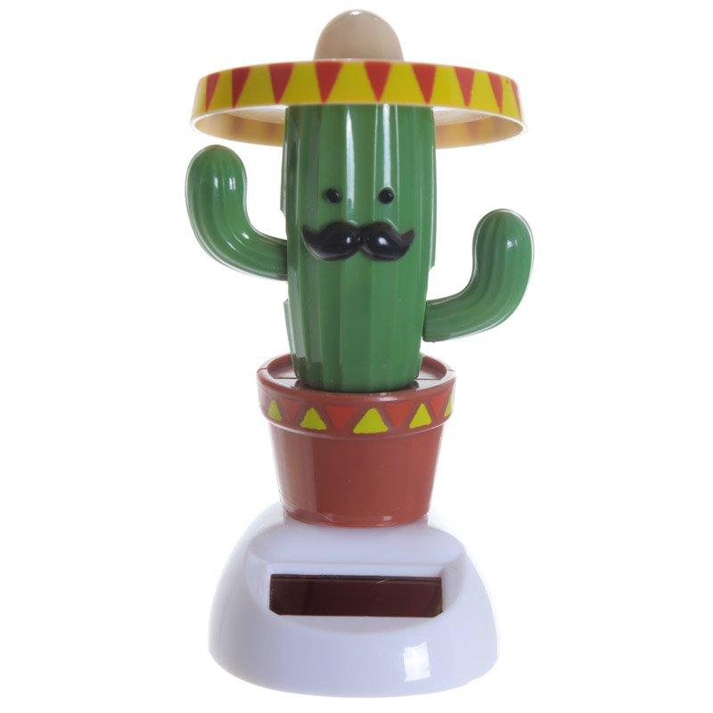 Fun Collectable Cactus wearing Sombrero Solar Powered Pal