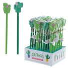 Cactus Design Pencil and Eraser Set (Assorted)