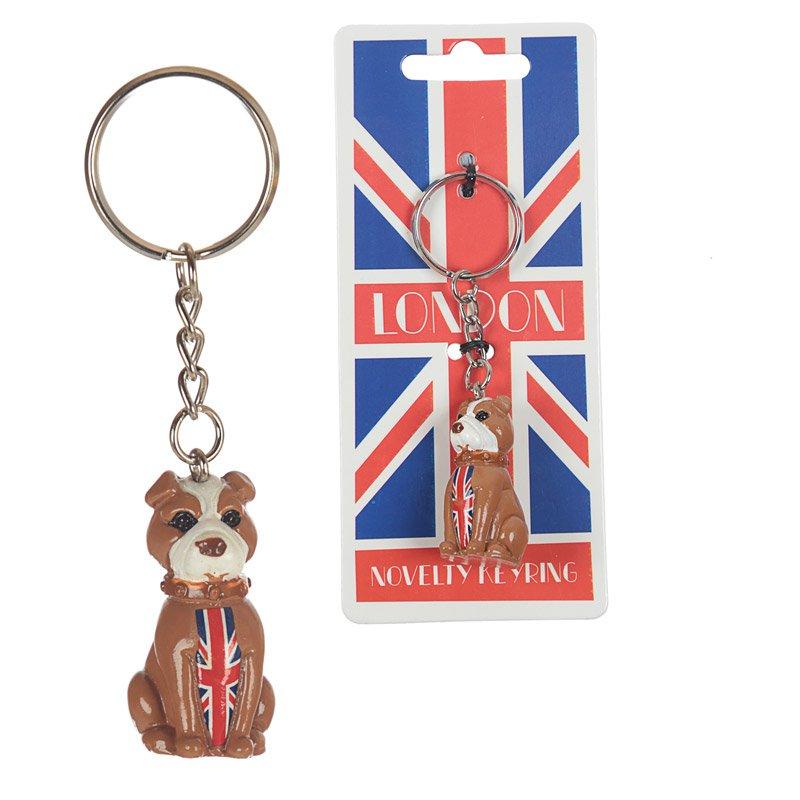 Fun Novelty London Bulldog Keyring