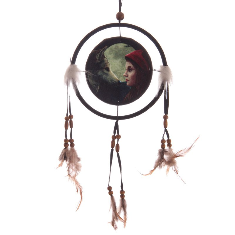 Wolf and Woman Dreamcatcher Small