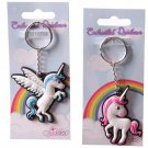 Fun Unicorn Design PVC Keyring