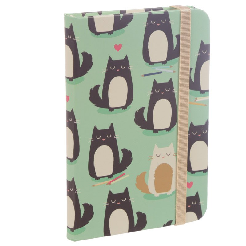 A6 Hardback Notebook - Feline Fine Cat