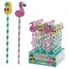 Tropical Pencil and Eraser Set