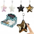 Fun Star Shaped Glitter Sequin Keyring Key Chain