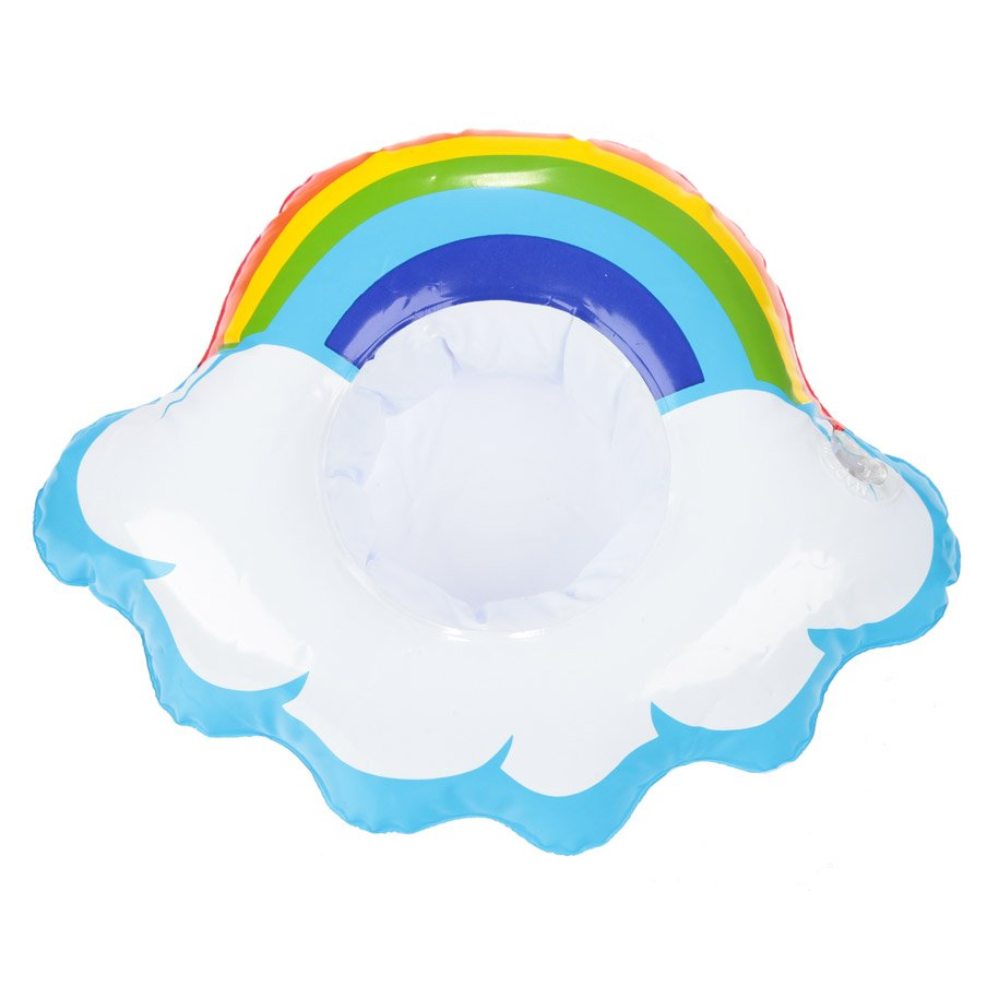 Inflatable Pool Drinks Holder - Cloud with Rainbow