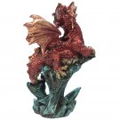 Rock Crystal Enchanted Nightmare Dragon Figurine