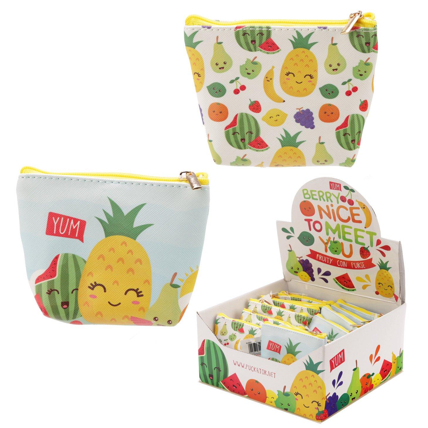 PVC Make Up Bag Purse - Fruit with Faces