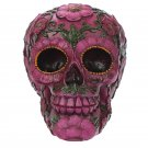 Day of the Dead Pink Flower Skull