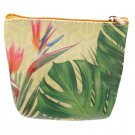 Handy PVC Make Up Bag Purse - Tropical Cheese Plant Design