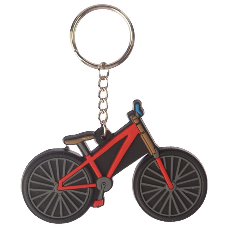 Novelty PVC Keyring - Cycling Bike Design