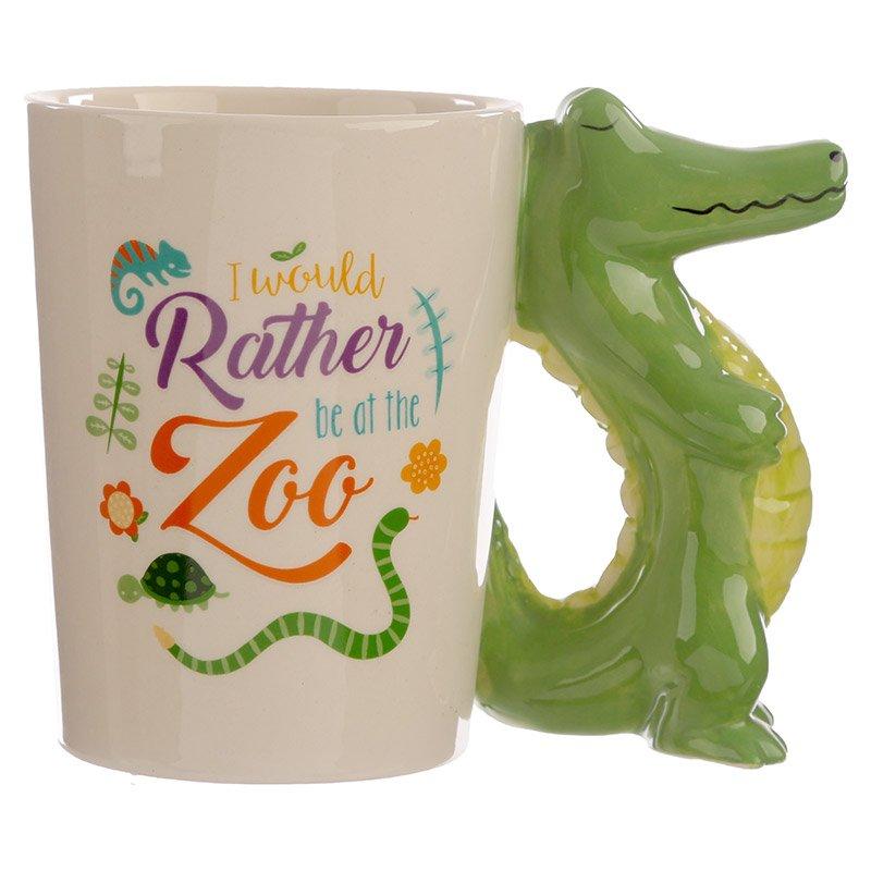 Shaped Handle Mug - Crocodile