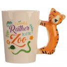 Shaped Handle Mug - Tiger