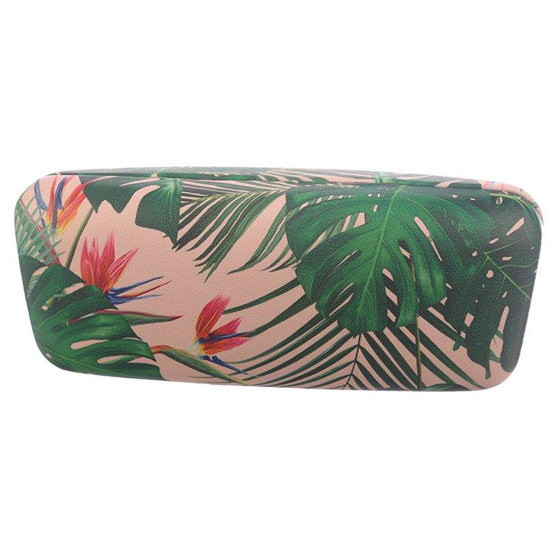 Tropical Plant Sunglasses Case
