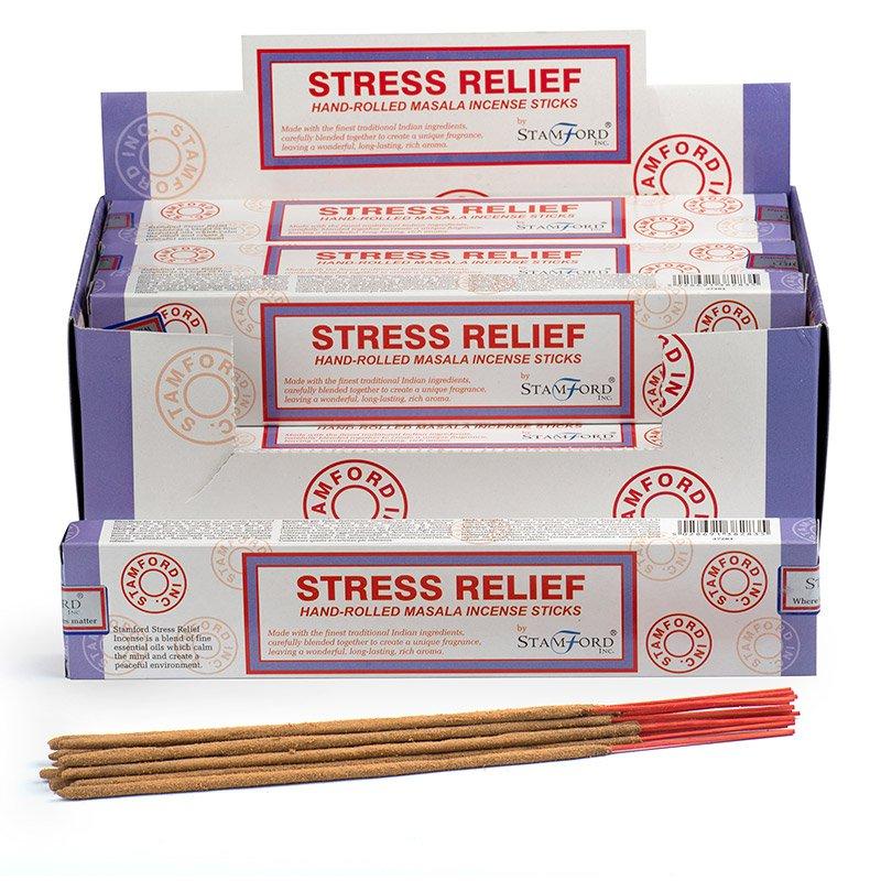 Stamford Masala Incense Sticks - Stress Relief (12 Packs)