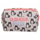 Handy PVC Makeup Toilet Wash Bag - Glamour Puss Cat Design