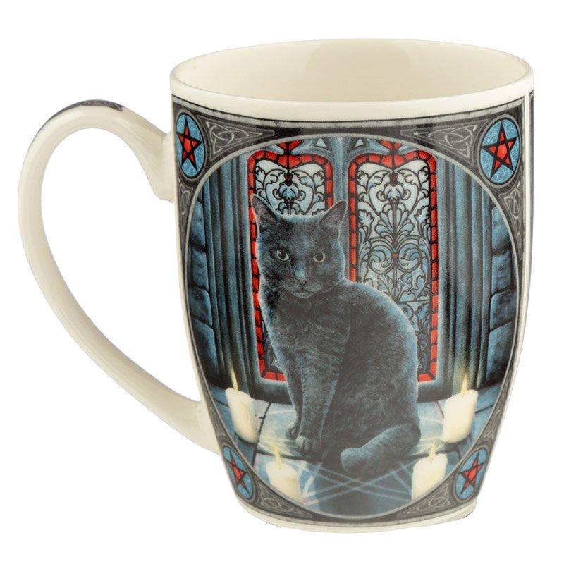 Sacred Circle Cat Bone China Mug