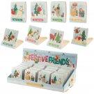 Festive Animals Christmas Mini Nail File Matchbook