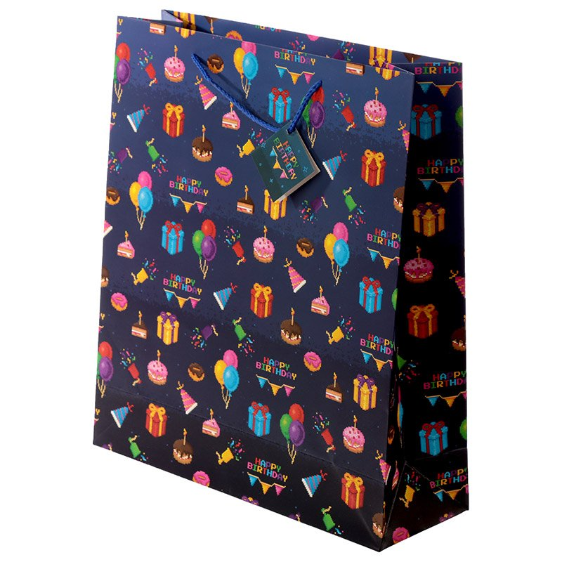 Happy Birthday Game Over Gamer Design Extra Large Gift Bag
