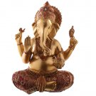 Ganesh Figurine - Red and Gold