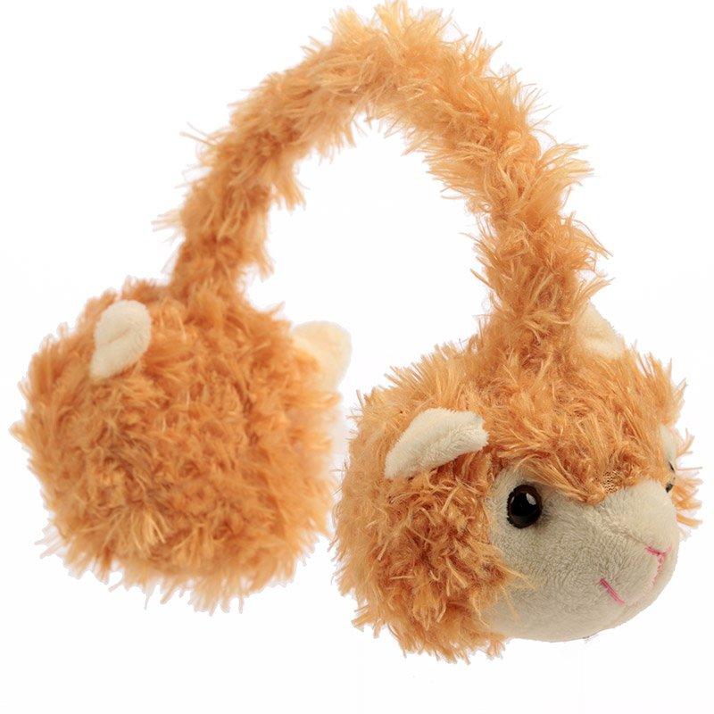 Kids Plush Llama Earmuffs (One Size)(Assorted)
