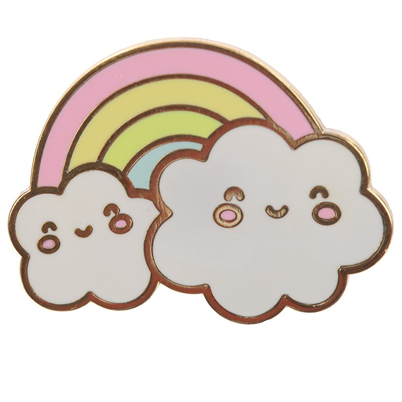 Kawaii Weather Enamel Pin Badge