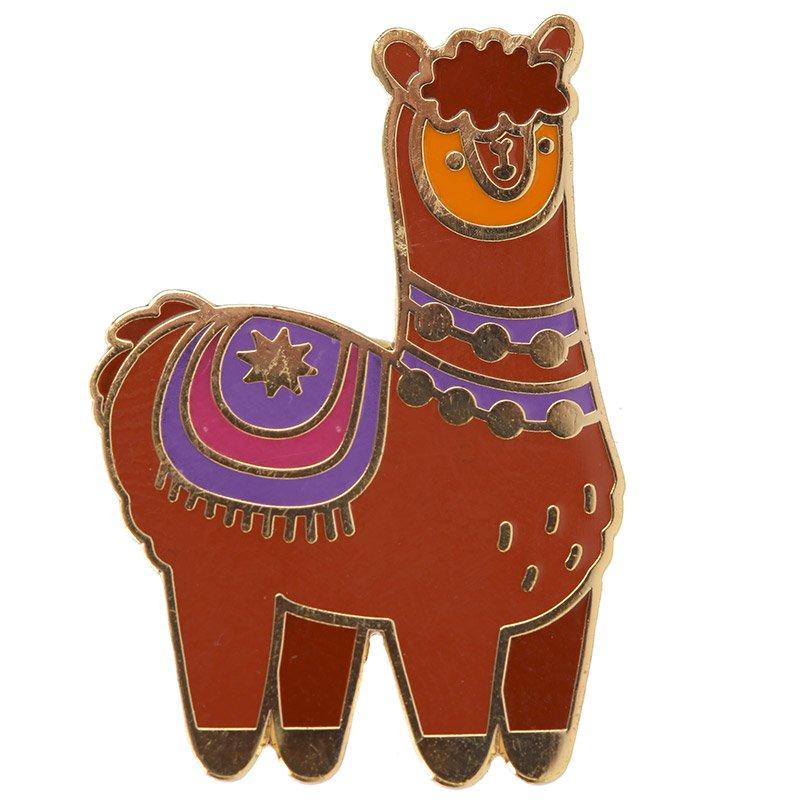 Alpaca Enamel Pin Badge