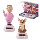 Queen and Corgi Solar Powered Pal Set of 2