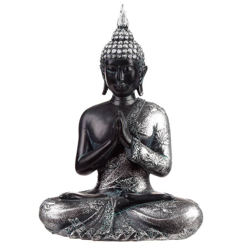 Black & Silver Thai Buddha - Enlightenment