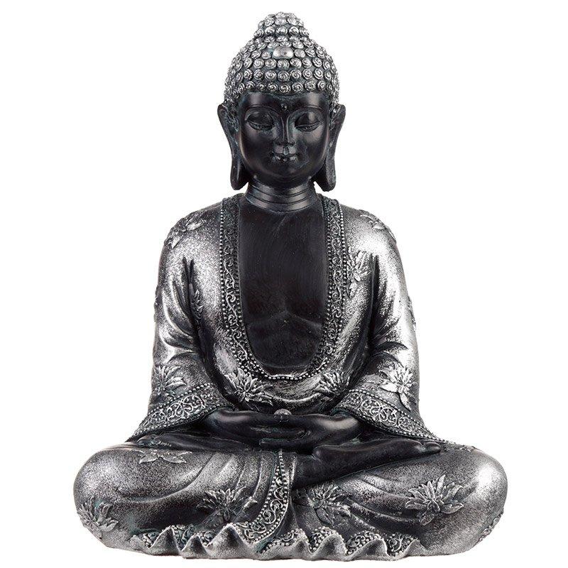 Black & Silver Thai Buddha - Peace