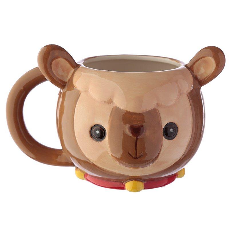 Ceramic Animal Head Mug - Llama