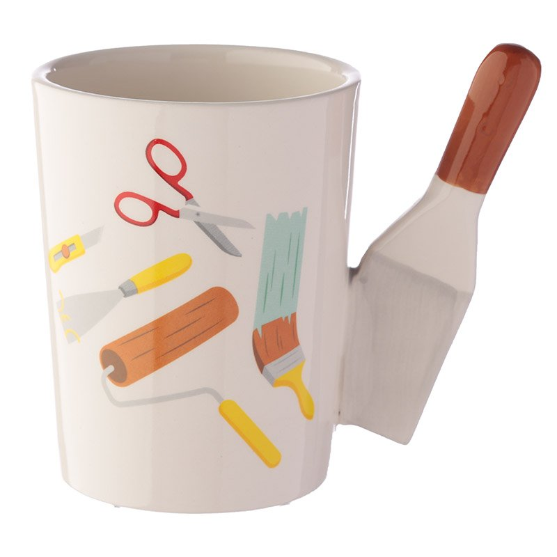 Ceramic DIY Paint Scraper Handle Mug