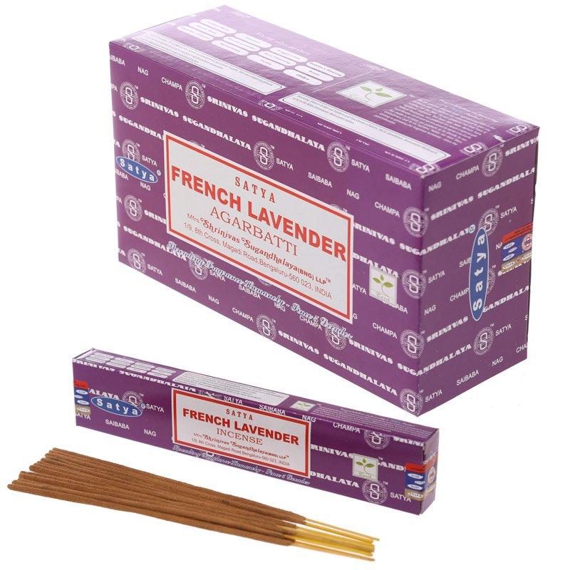 Satya Nag Champa Incense Sticks - French Lavender (12 Packs)