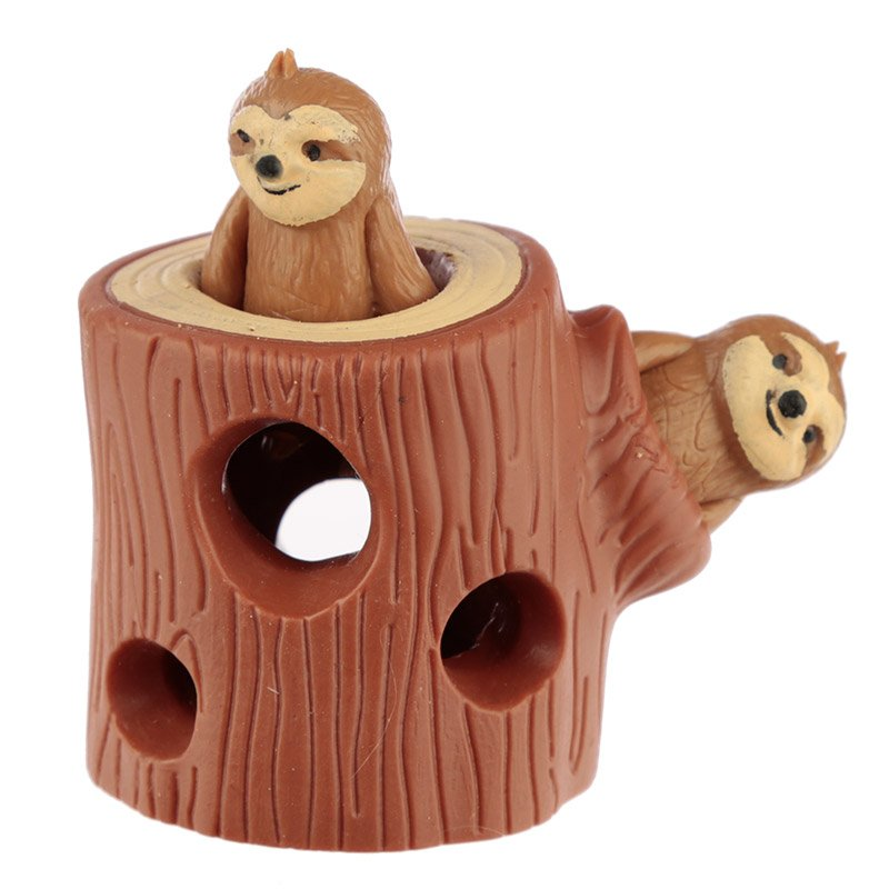 Kids Squeezy Hide and Seek Sloth Toy
