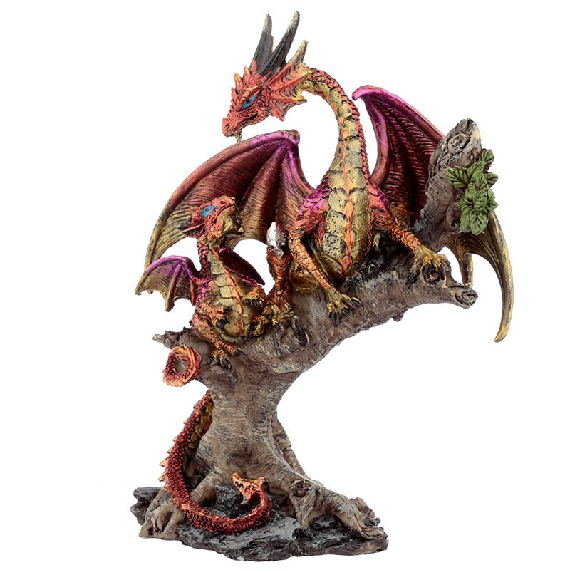Forest Fire Mother Dragon Figurine