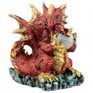 Mother and Hatching Baby Dragon Figurine